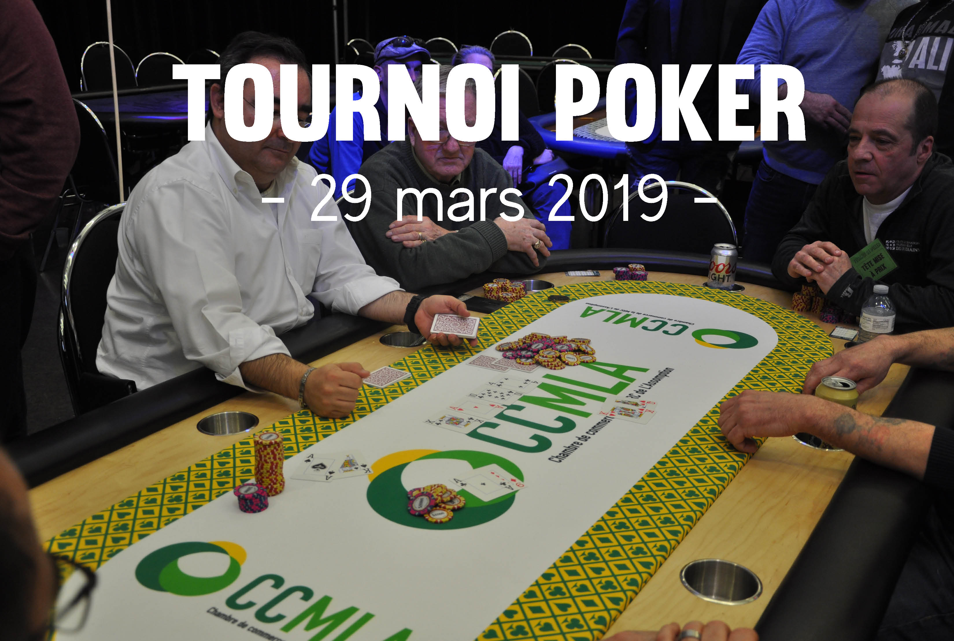 Tournoi de poker – Mars 2019