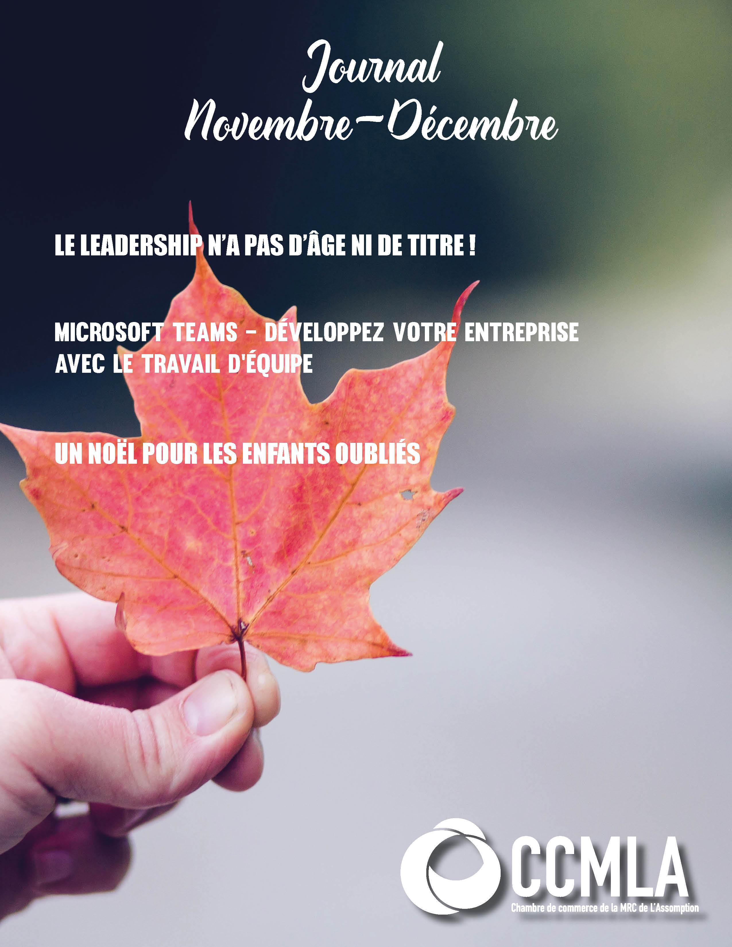 Journal Novembre-Décembre