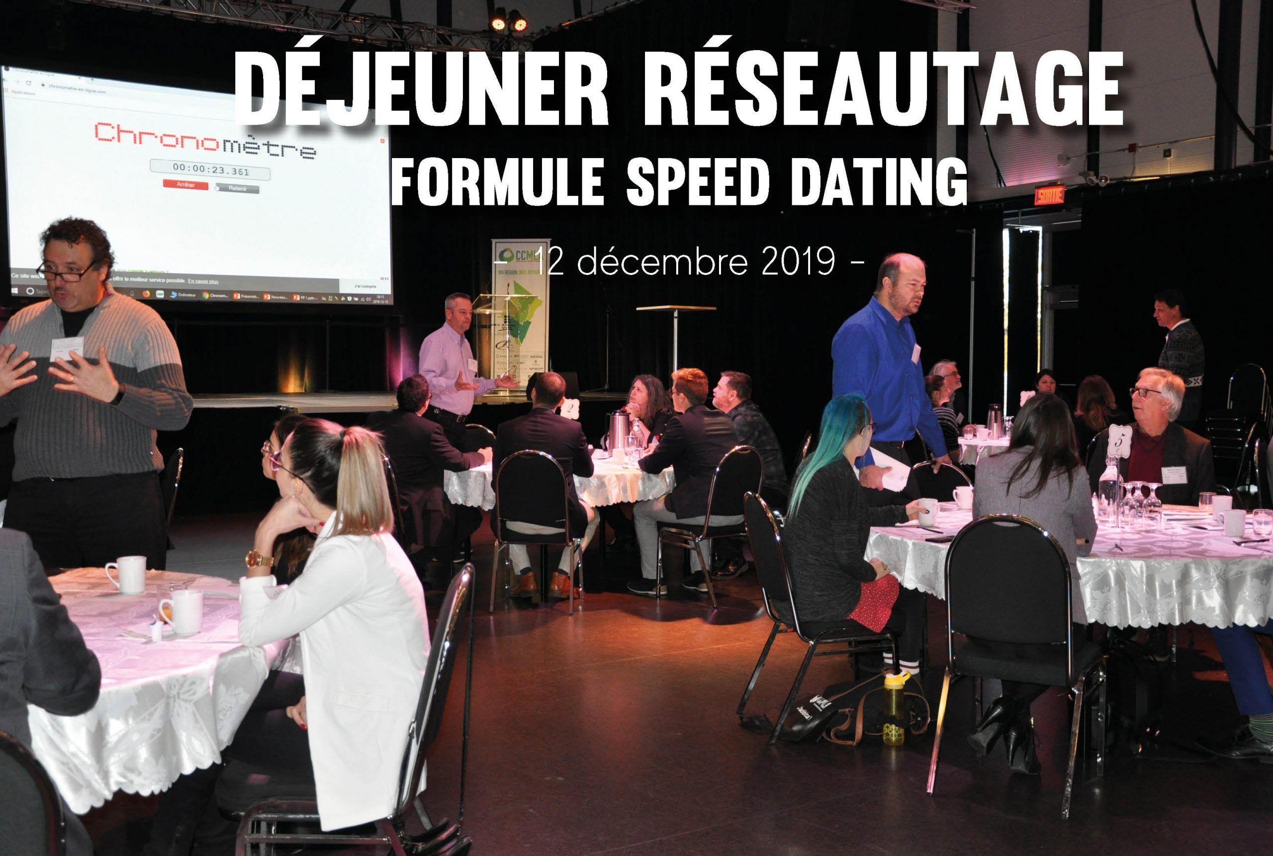 Déjeuner réseautage – Formule Speed dating